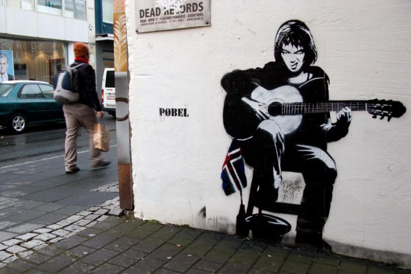 Graffiti of Norwegian Artist Pøbel